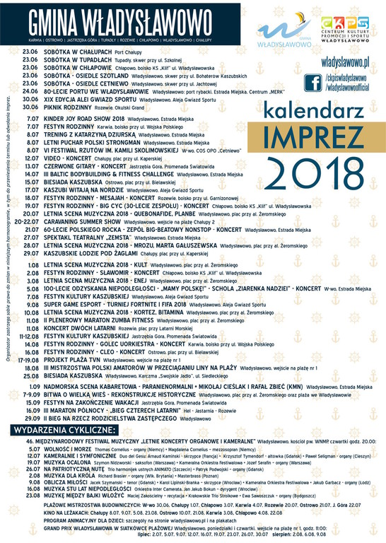 Kalendarz imprez 2018